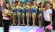 İki Türk Takımı Tarihe Geçti: 7-8 Yaş ve 8-10 Yaş Estetik Cimnastik Takımları Altın Madalya Kazandı