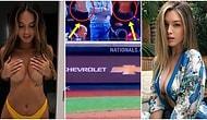 Beyzbol Maçında Memelerini Açan Ünlü Model Julia Rose ve Lauren Summer, Maçlara Giriş Yasağı Aldı