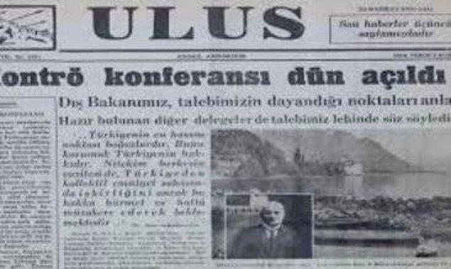 1936 - Montreux Boğazlar Sözleşmesi yürürlüğe girdi.