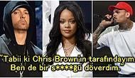 Ortalık Karışır! Eminem, Sızan Şarkısında Chris Brown'ın Rihanna'yı Darp Etmesini Haklı Bulduğunu Söyledi