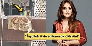 Ezgi Mola, Köpeğini Korkunç Bir Şekilde Balkondan Sallandırarak İşkence Çektiren Kadına Çok Sert Bir Tepki Gösterdi!