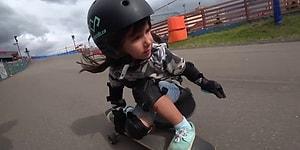 Küçük Yaşına Rağmen Kaykay ve Snowboard Üzerinde Harikalar Yaratan Yetenek: Vasilisa