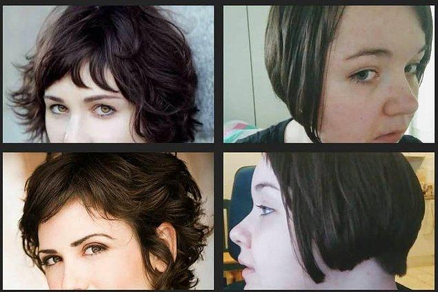 16. Havalı bir bob saç kesimi isterken yamuk yumuk kesilen küt bir saça sahip olmak... 😵