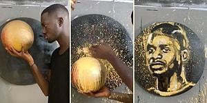 Tanınmış Kişileri Özdeşleştiği Nesnelerle Resmeden Senegalli Sanatçıdan Sadio Mane Tablosu!