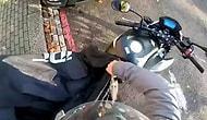 Motosikletini Örten Adamın Yaşadığı Talihsiz Kaza!