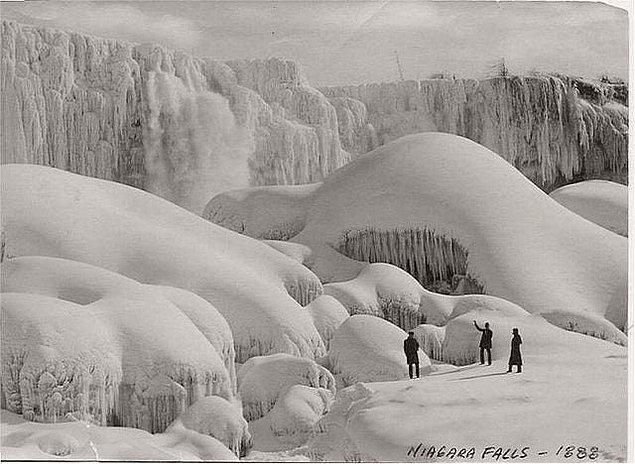 3. Şelale donar mı? Buyrun yanıt: 1888 kışında Niagara Şelalesi dev bir buz yığınına dönüşmüştü.