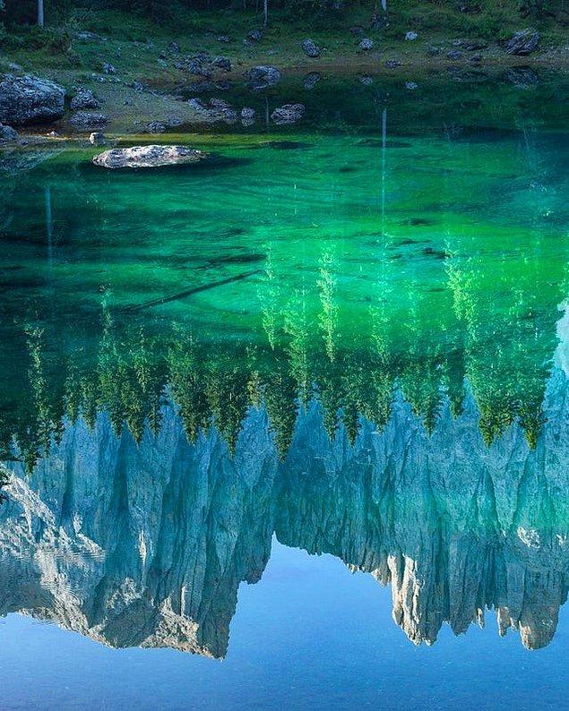 10. Muhteşem renkleriyle doğal ayna...