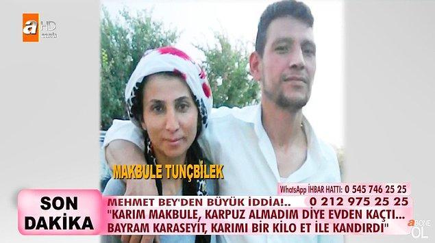 Akrabamız dedikleri Bayram isimli bir şahıs hayatlarına girene kadar bir problem yaşamadıklarını söyleyen Mehmet, eşinin Bayram'la kaçtığını iddia etti.
