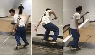 Görme Engelli Kaykaycıdan İstedikten Sonra Her Şeyi Başarabileceğinizin Kanıtı Niteliğinde Video!
