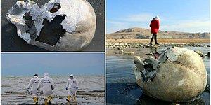 Van Gölü'nde Sular Çekilince Kemik ve Kafatasları Ortaya Çıktı: Emniyet ve Müze Müdürlüğü İnceleme Başlattı