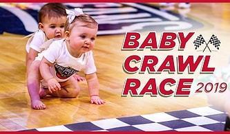 NBA'in Geleneksel Emekleme Yarışında Yarışı Bırakıp Birbirlerine Kur Yapmaya Başlayan Bebekler!