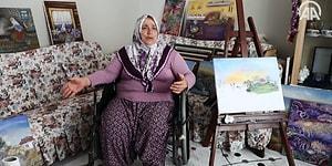 Engelli Ressam Teyzenin Köy Evindeki Sanat Yaşamı: 'Gidemediğim, Göremediğim Dağları Çizdim'