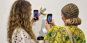 Bantla Duvara Yapıştırmak Suretiyle Yapılan 120 Bin Dolar Değerindeki Provokatif Sanat Eseri 'Komedyen Muz'