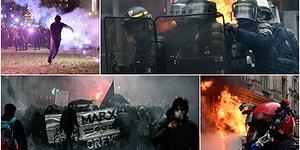 Fransa'daki Gösterilere Sarı Yelekliler de Destek Veriyor: Grev Önümüzdeki Hafta da Devam Edecek