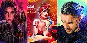 Ünlüleri Masalsı Bir Anlatımla Birleştiren Çizimleriyle Büyüleyen Türk Tasarımcının Çalışmaları