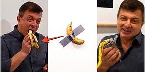 120 Bin Dolarlık Sanat Eseri Duvara Bantlanmış Muzu Bir Başka Sanatçı Duvardan Alıp Yedi!