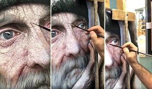 İranlı Sanatçının Gerçek İnsandan Ayırt Etmekte Zorlanacağınız Muhteşem Tablosu!