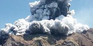 Yeni Zelanda'nın Aktif Yanardağlarından White Island, Lav Püskürtmeye Başladı!