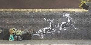 Dünyanın En Ünlü Sokak Sanatçısı Banksy'den Evsizliği Konu Alan Çalışma!