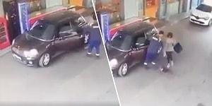 Centilmenlik Kaybetti: Kadın İçin Kapısını Açtığı Arabadan Çıkan Kedinin Saldırısına Uğrayan Pompacı