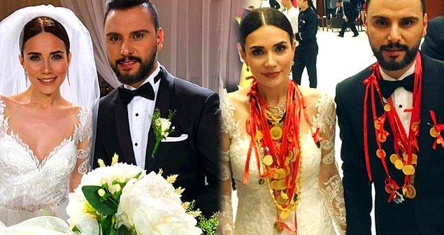 15. Onların düğününde en çok altınlar konuşuldu. 2018 yılında evlenen Alişan ve Buse Varol'un düğününde gelin ve damada tam 3 kilo altın takıldığını biliyor muydunuz?
