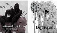 Psikolojik Rahatsızlıkları Birer Yaratık Olarak Resmeden Sanatçının Bu Çizimlerin Mutlaka Görmelisiniz!