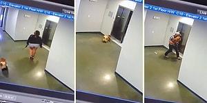 Asansöre Binemeyip Boğulma Tehlikesi Yaşayan Köpeği Kurtaran Kahraman!