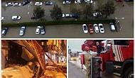 Türkiye Fırtınaya Teslim: Çatılar Uçtu, Elektrik Direkleri Devrildi, Araçlar Suyun İçine Gömüldü