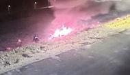 Polisin Kahramanlığı Kamerada: Gaziantep'te Boş Araziye Devrilip Yanan Otomobilin Sürücüsü Son Anda Kurtarıldı
