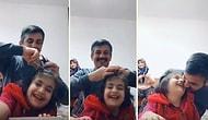 Kızının Saçlarını Yaparken Bir Yandan da TikTok Videosu Çeken Babanın İçinizi Isıtacak Görüntüleri!