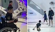 Cristiano Ronaldo'nun, Doğuştan İki Bacağı Olmayan Kazakistanlı Hayranıyla Tanıştığı Anlar!