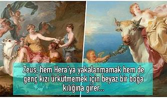 Çapkınlar Çapkını Tanrı Zeus'un Boğa Kılığına Girip Kaçırdığı ve O Haliyle Bile Kendine Aşık Ettiği Genç Kız Europa