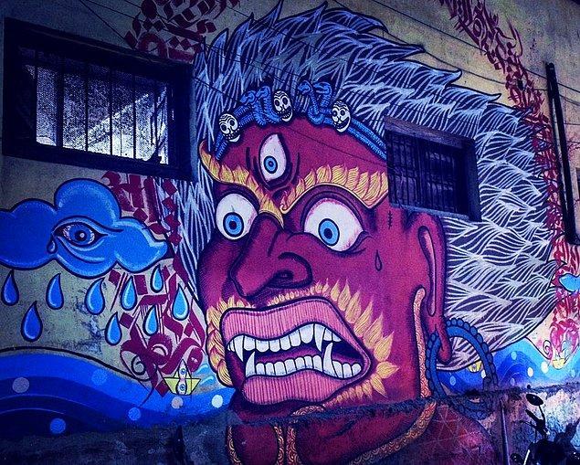 12. Nepal'de bulunan, hem mistik hem de ürkütücü eser...