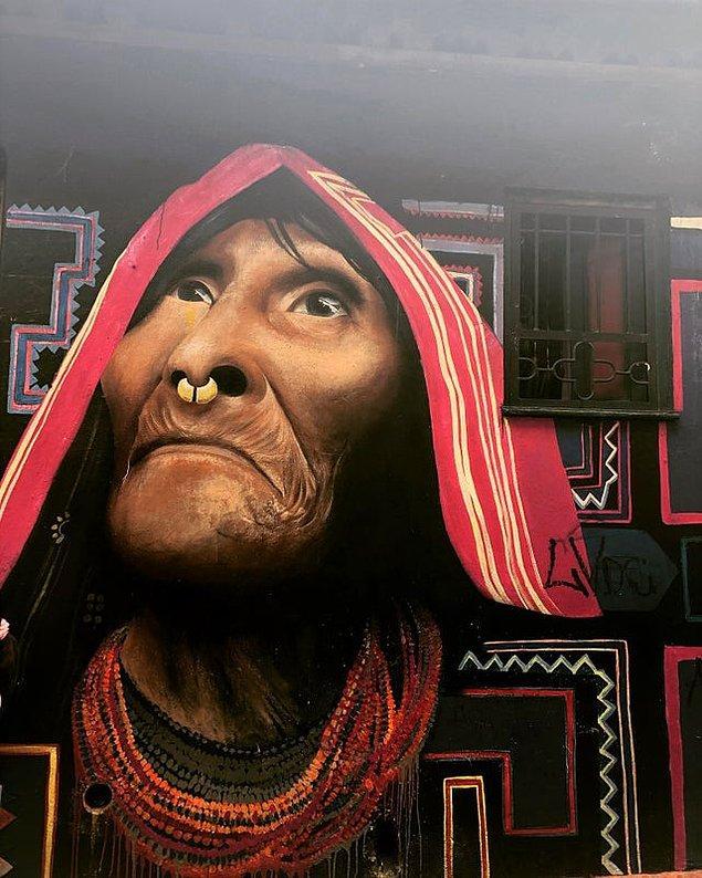 15. Yüzündeki kırışıklıkların gerçekçiliği...(Kolombiya)