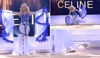 Belçika Güzellik Yarışması'nda Birinci Olan Celine Van Ouytsel, Sahnede Sütyenini Düşürdü!