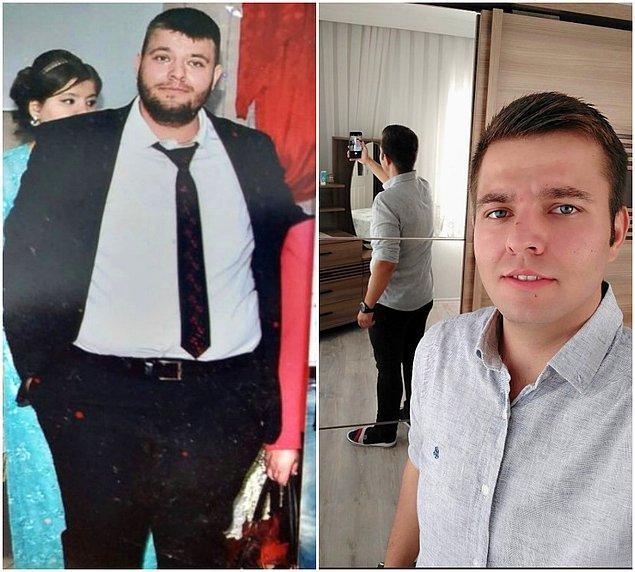 11. Tam 156 kilodan 86 kiloya düşmüş...