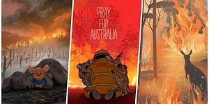 Bir Milyar Hayvanın Öldüğü Avustralya Yangınlarını Asla Unutmamamız Gerektiğini Hatırlatan 25 Üzücü İllüstrasyon