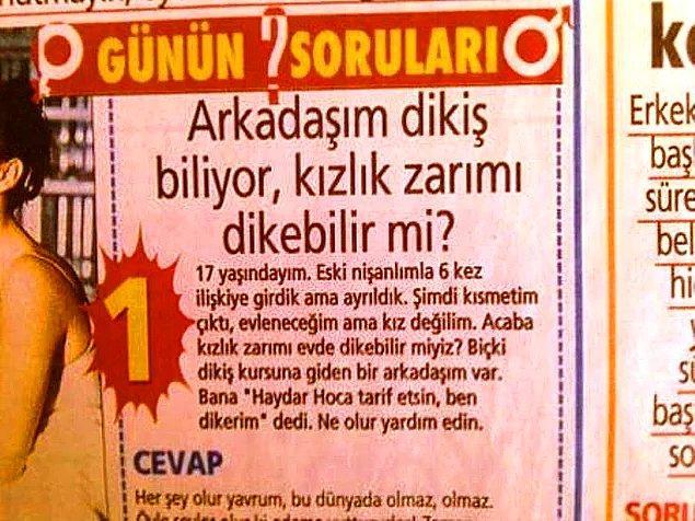 Kendisine yöneltilen en absürt sorulara verdiği yanıtlarla olduğu kadar Türkiye'de yıktığı tabularla da bir efsaneye dönüştü Haydar Dümen...