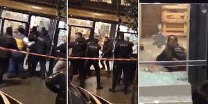 Kameralar Kayıttaydı: Elinde Bıçakla Kafeye Giren Saldırgan Vurularak Öldürüldü
