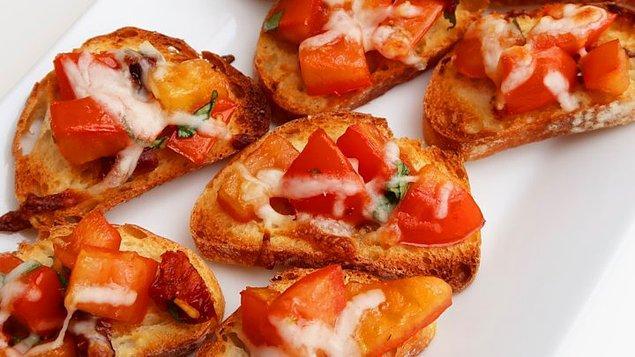 Fırında Domatesli Ekmek Tarifi