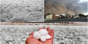 Avustralya'da Felaketler Bitmiyor: Kum Fırtınası Güneşi Kapattı, Ceviz Büyüklüğünde Dolu Yağdı