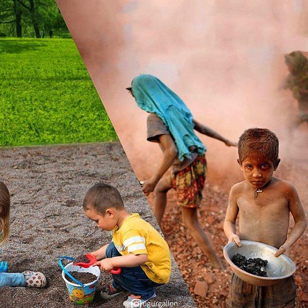 12. Bangladeş, Dakka yakınlarında bulunan bir tuğla fabrikasındaki çocuklar.