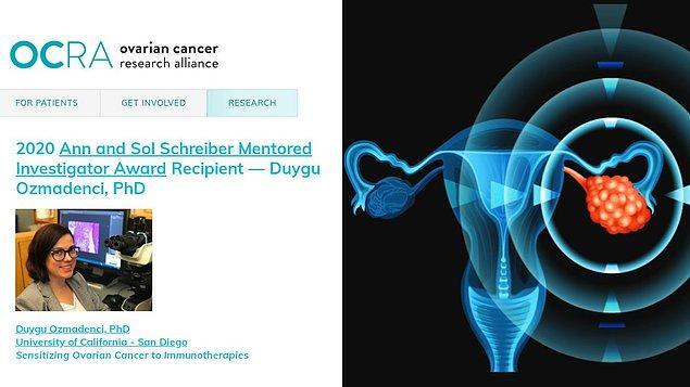 İstanbul Üniversitesi'nde biyoloji üzerine eğitim alan ve ardından Fransa'da kanser araştırmaları üzerine yüksek lisans ve doktora yapan Dr. Duygu Özmadenci, hali hazırda ABD'deki San Diego Üniversitesi'nde çalışmalarına devam ediyordu.