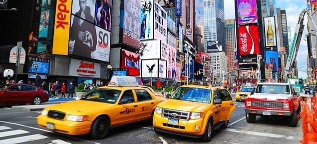 New York'ta bir taksi plakası almanın bedeli yaklaşık 1 milyon dolar.