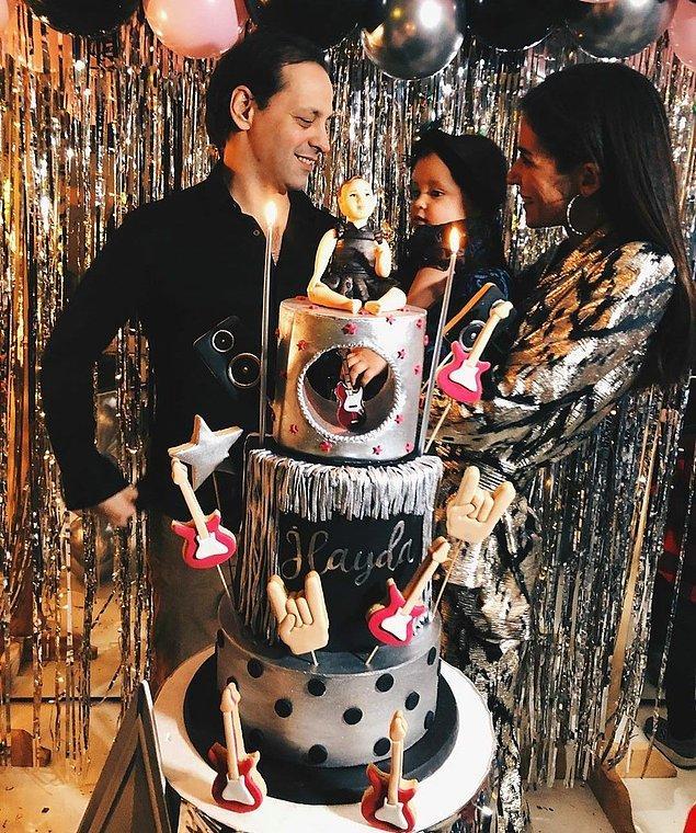 2. Kaan Tangöze ile Kıvılcım Ural'ın kızları Kristal İlayda, 1. yaş gününü kutladı!