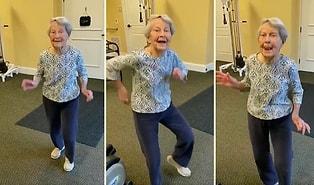 91 Yaşındaki Kadının Elvis Presley Şarkısında Kurtlarını Döktüğü Muhteşem Görüntüler!