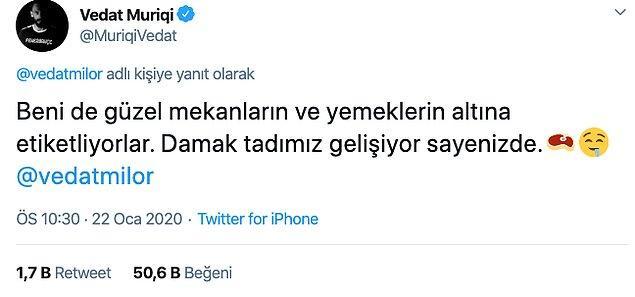 Fenerbahçeli oyuncudan da şöyle bir yanıt geldi.