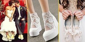 Düğün Sezonu Açıldı! 'O Gün Rahatlık da Çok Önemli' Diyen Gelinlere Özel Hepsi Birbirinden Tarz 20 Spor Ayakkabı Modeli