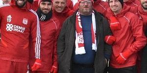 'Sabaha Kadar Burdayım' Diyerek Fenomen Olan Ahmet Abi, Sivasspor Antrenmanına Katıldı!