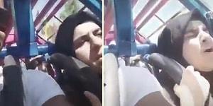 Adrenalini Tavan Yaptıran Lunapark Aletine Binen Kadının Efsane Tepkileri!